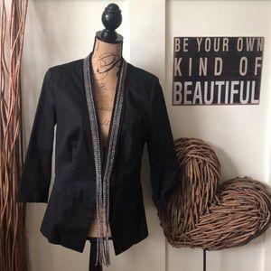 Rock &Republic rhinestone embellished black blazer